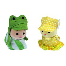 Zhu Zhu Babies Adorable Baby Outfits 2Pack Frog Yellow Polka Dots