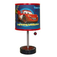 Disney - Cars Table Lamp Includes Decorative Pull Chain