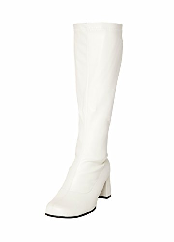 White Knee High Boots - Size 5 - best rated and great value - see the reviews