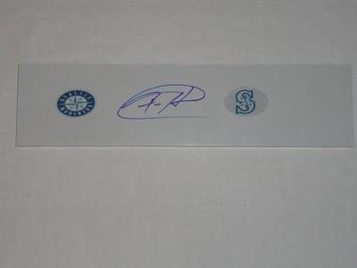Felix Hernandez Signed Pitching Rubber Seattle Mariners Mound Cy Young Jsa Coa - MLB Autographed Miscellaneous Items