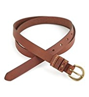 Indigo Collection Leather Skinny Belt