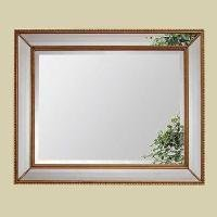 Antique Gold Leaf Beaded Bevel Wall Mirror