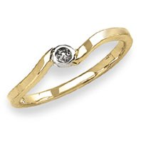 14k Yellow Gold  Cubic Zirconia  Baby/Children's Ring