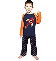 Rocket Appliqué Fleece Star Pyjamas
