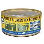 Natural Balance Duck and Green Pea for Cats - 6 oz Can (Natural Balance Green Pea Duck compare prices)