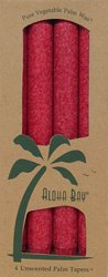 Aloha Bay Palm Tapers Unscented Red Candles 4 Pack(S)