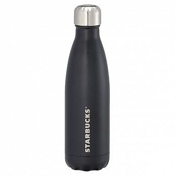 Starbucks (スターバックス) × S'well (スウェル) 海外限定 超軽量 スリム ハンディ ステンレス ウォーター ボトル 水筒直飲み 『LONDON CHIMNEY』 (Black) 17oz [並行輸入品]