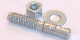 """3//4-10  x 7/"""" steel wedge anchors zinc plated 20 count box"""