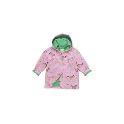 Hatley Running Horses Girls Raincoat, Waterproof, Girls, Pink