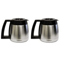 Cuisinart DGB-600RC-2PK 10 Cup Stainless Thermal Carafe with Lid, Chrome, 2 Pack
