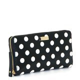 Kate Spade New York Carlisle Street Neda Patent Leather Continental Wallet (Black/Cream)