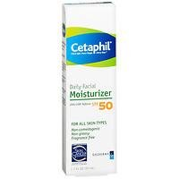 Cetaphil Daily Facial Moisturizer for All Skin Types, SPF 50, 1.7 oz