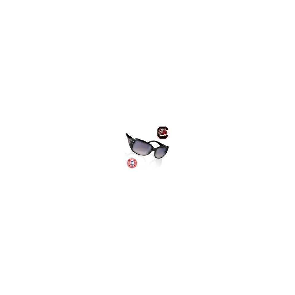 South Carolina Gamecocks Black Frame Jeweled Sunglasses