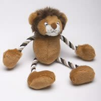 Classic Pet Products Safari Animal Plush and Rope Monkey 11.5 in Dog Toy