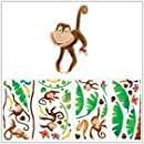 Magnificent Peel Stick By Roommates Morrow Monkeys Peel Stick Wall Decals