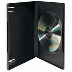 VIVANCO DVD BOX 5 - Standard DVD box f. 1 DVD, schwarz, 5er Pack