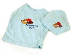 Mommys Boy 2 Piece Dog Tee and Bandana - XSmall