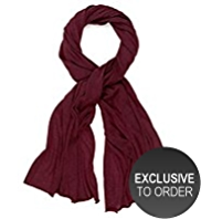M&S Collection Cashmere Rich Worsted Oversize Scarf