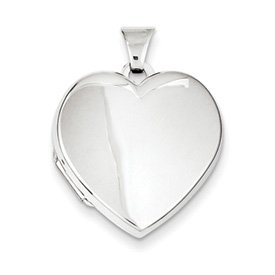 Genuine IceCarats Designer Jewelry Gift Sterling Silver Plain 21Mm 2-Frame Heart Locket