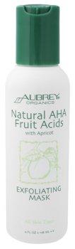 Aubrey Organics  Natural Aha Fruit Acids/W Apricot Exfoliating Mask, 4 fl oz scrub