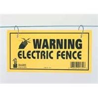 6 PACK ELECTRIC FENCE WARNING SIGN, Color: YELLOW; Units Per Package: 3