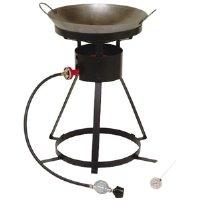 King Kooker 24Wc Heavy-Duty 24-Inch Portable Propane Outdoor Cooker With 18-Inch Steel Wok