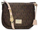 Michael Kors Hamilton Large Signature Messenger Crossbody Shoulder Bag - Brown front-668951