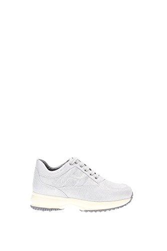 Sneakers Hogan Bambino Camoscio Argento HXC00N00E115HWB001 Argento 30EU