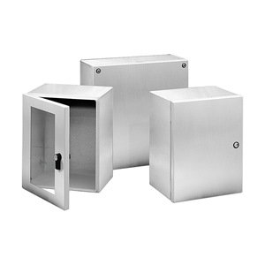 4X, Hinged Cover, Stainless Steel Type 304, 150 mm x 150 mm x 120 mm
