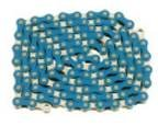 Chain – 1/2 x 1/8 Chrome and Blue Bicycle Bike