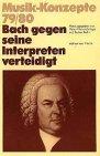 Bach gegen seine Interpreten verteidi...