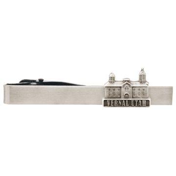 LDS Vernal Utah Temple Silver Steel Tie Bar - Tie Clip - Priesthood Gift, LDS Missionary, Tie Clip
