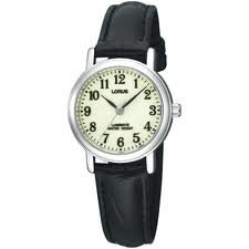 Lorus Lumibrite Leather Strap Ladies Dress Watch RRS77RX9