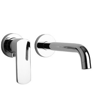 LaToscana 86CR208 Novello Wall Mount Lavatory Faucet, Chrome