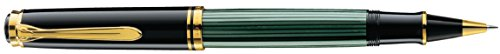 Pelikan 986364 Tintenroller Souverän R 800, 1 Stück, schwarz/grün