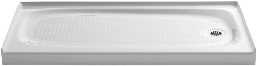 Review KOHLER K-9054-0 Salient Receptor with Right-Hand Drain, 60-Inch by 30-Inch, White