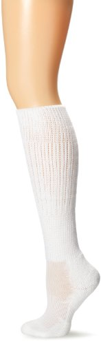 Thorlo Women's Moderate Cushion Fitness Slouch Sock, White, Medium/6.5-10