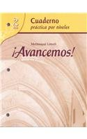 ¡Avancemos!: Cuaderno: Practica por niveles (Student Workbook) with Review Bookmarks Level 2 (Spanish Edition)