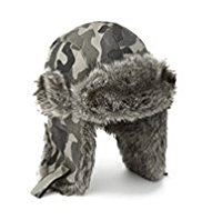 Faux Fur Camouflage Trapper Hat