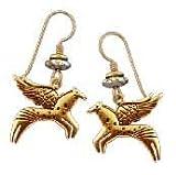 Soaring Equus Gold Legends Earrings by Laurel Burch