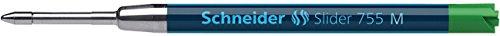 Schneider stylos à bille slider 755, recharge encre permanente, pointe m, vert