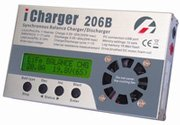 LiPo Balance Battery Charger and Discharger (iCharger 206B+) 1S-6S packs up to 20 amp charge rate Charge and discharge LiPo/LiIo/LiFe/NiCd/NiMH types of RC and other Batteries