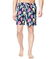XXXL Blue Harbour Jellyfish Print Quick Dry Swim Shorts