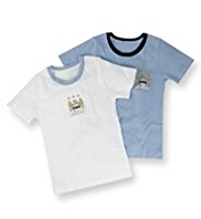2 Pack Pure Cotton Manchester City Football Club Vests