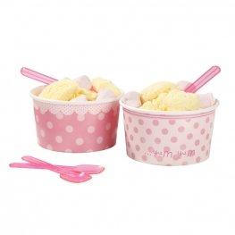 Mystic Moments Pots et cuillères pour crème glacée x8