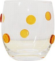 Set Of 4 Double Old Fashion Glasses - Adorned With Gold Dots