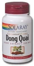 Solaray - Dong Quai Root Extract, 250 mg, 60