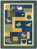 "Joy Carpets Kid Essentials Infants & Toddlers Baby Love Rug, Bold, 3'10"" x 5'4"""