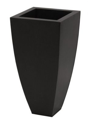 Zinc planter - gunmetal (black) tapered cubes - Large