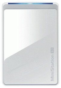 Buffalo MiniStation 1TB USB 3.0 Portable Hard Disk Drive - White from BUFFALO